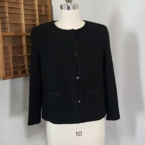 Vince cropped jacket wool and acrylic